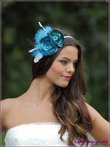 Fascinator Headband Vintage blue