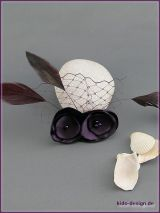 Fascinator in Aubergine